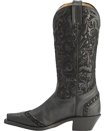 50 1656 Cowboy Walking Bo c Boots Boots American normal Black Women nxIqXSa