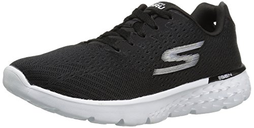 Skechers Performance Women's Go Run 400 Sole Running Shoe, Black/White, 9 M US