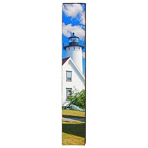 Lighthouse Chop - West Chop Lighthouse Home Decor Art Print on Real Wood (9.5