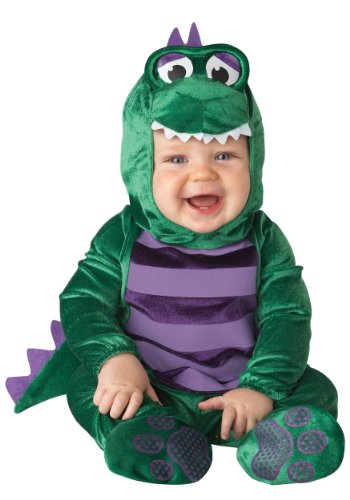 (InCharacter Costumes Baby's Dinky Dino Dinosaur Costume, Green/Purple, 12-18)