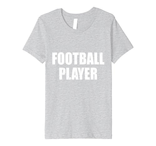 Kids Football Player Halloween Costume Party Cute & Funny T shirt 4 Heather Grey -