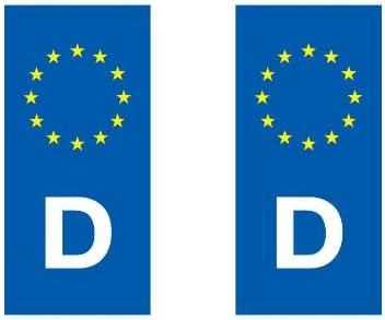 Adhesivo decorativo, diseño de placa de matrícula países europeos ...