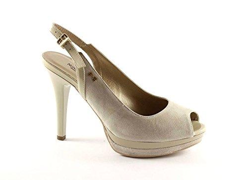 Talones De Mesetas 2561 Los Mujeres Safari Beige Sandalias Negro Zapatos Las Jardines aUvqInzw