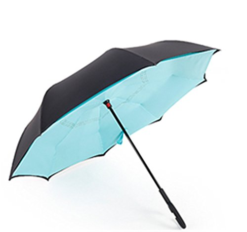 GKRY Fashion Art Umbrella/Windproof Travel Umbrellas/Folding Umbrella/for Business and Travels/SPF 335+ SUN RAIN Umbrella/RAIN Umbrella The ultra fine umbrella blue sky. by GKRY Home (Image #1)