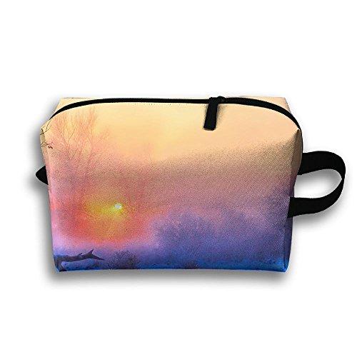Travel Bag Winter Sun Sunrise Sunset Cosmetic Bags Brush Pou