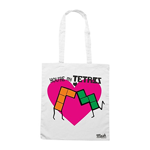Borsa You Re My Tetris - Bianca - Funny by Mush Dress Your Style