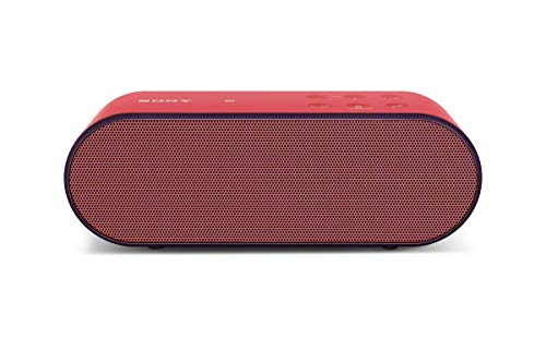 Sony SRSX2 Ultra-Portable NFC Bluetooth Wireless Speaker (Red) with Speakerphone (Renewed)