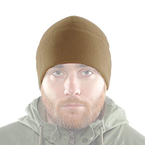 2Sabers Fleece Winter Warm Black Watch Cap - Men&Woman - Army Tactical Skull Beanie Hat (Large, Coyote)