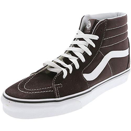 Chocolate Canvas Footwear - Vans SK8 Hi Chocolate Torte/True White Men's Classic Skate Shoes Size 9.5