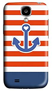 Samsung Galaxy S4 I9500 Hard Case - Navy Anchor Galaxy S4 Cases by icecream design