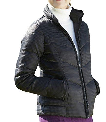 DELSOL GOLF ダウンジャケット 千鳥ブラック M L 大きいサイズ デルソル ゴルフウェア レディース