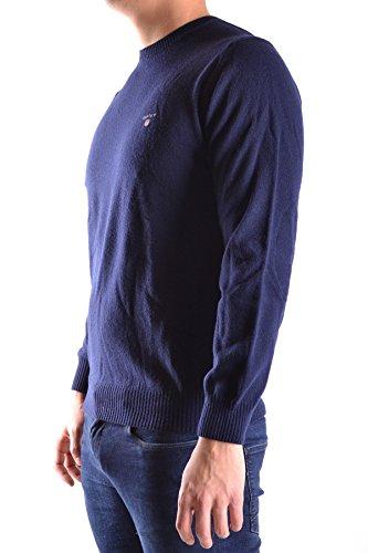 Gant Herren MCBI131109O Blau Wolle Sweater