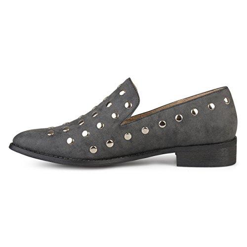 Journee Collectie Damesschoen Stud Platte Schoenen Zwart