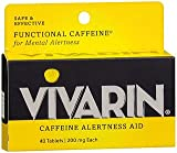 Vivarin, Caffeine Alertness Aid, 200mg, Tablets - 40 Tablets, Pack of 2