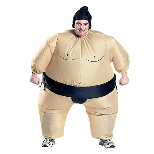 Inflatable Sumo Costume Halloween Blow Up Fat Suit