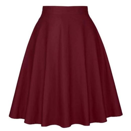 QZBTU Faldas Mujer Mini Faldas Diarias De Pinup con Cintura Alta ...