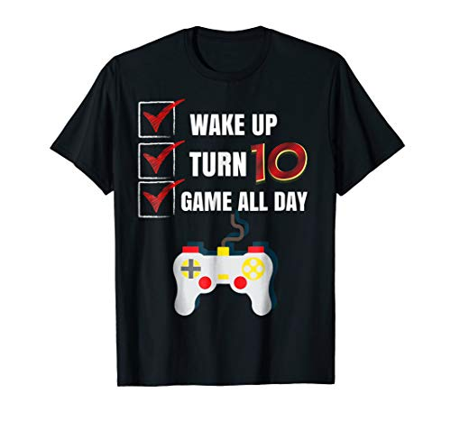 10 Yr Old Boy Game All Day Gamer Birthday Party Shirt Outfit