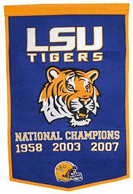 LSU Tigers Dynasty Banner - NCAA Licensed - LSU Tigers Collectibles