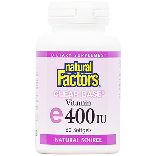 Natural Factors – ClearBase Vitamin E 400 IU, High Potency, Naturally Sourced Vitamin E, 60 Soft Gels For Sale