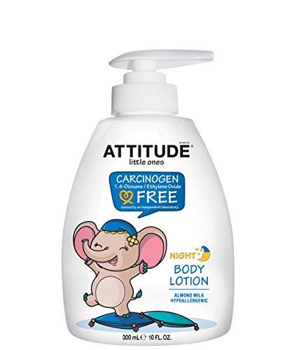 ATTITUDE Night Baby Lotion, Almond Milk, 10 Fluid (Baby Body Milk)