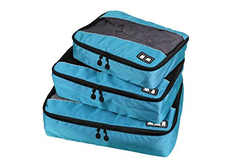 Aomagic Travel Packing Storage Organizers For Luggage, Travel Packing Cubes 3 Pcs(Small/Medium/Large) For Suitcase - To Things Needed Go Camping