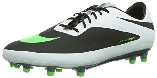 Nike Men's Hypervenom Phatal FG Soccer Cleats-Black/N Lime/White/Mtllc