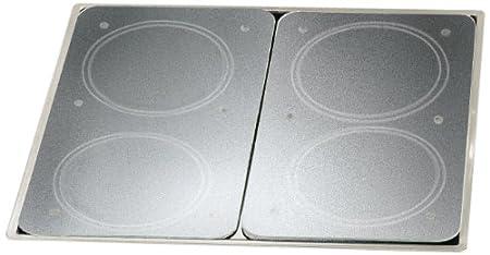 Wenko 2521200500 Cubiertas de Cocina Universal con Folio de Vidrio Duro - Juego de 2 Piezas para Todos los Tipos de cocinas, Vidrio - Vidrio ...
