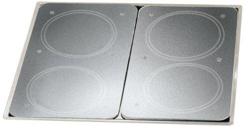 Piastre di copertura universali per piano cottura ognuna da 30 x 4,5 x 52 cm 2 pezzi con pellicola protettiva in vetro temprato colore: Trasparente Wenko 2521200500