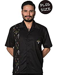 Banned Midnight City PLUS SIZE Mens Rockabilly Vintage Shirt