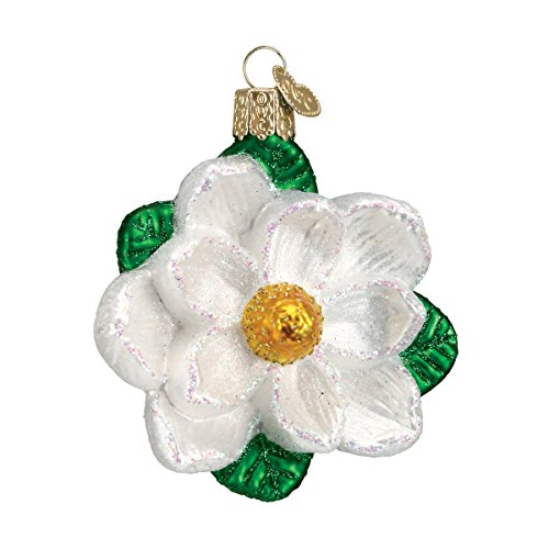 Old World Christmas Magnolia Glass Blown Ornament Flowers Christmas Ornament