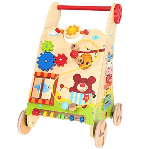 Baby Walkers Andador de Madera para bebés, Niño pequeño 0-2 Regalo de cumpleaños Caminante para bebés Aprendizaje...