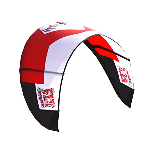 Albatross 13 square red kitesurfing kiteboarding wind surf board surf kite contain the bar and pump by ALBATROSS KITE