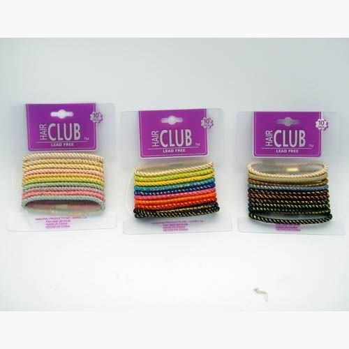10Pk Gold Trim Elastic Band 48 pcs sku# 893929MA
