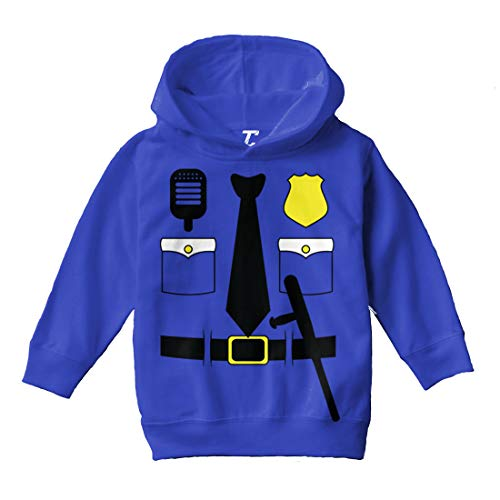 Cop Costume - Police Officer Trooper Toddler/Youth Fleece Hoodie (Royal Blue, 2T (Toddler)) -
