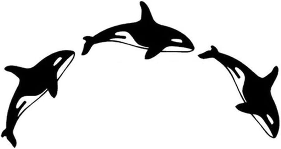Orca Killer Whales Vinyl Decal Sticker | Cars Trucks Vans Walls Laptops Cups | Black | 7 X 3.7 inches | KCD1498