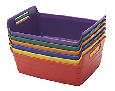 ECR4Kids Assorted Small Bendi Bins With Handles, Stackable Plastic Storage  Bins For Toys And