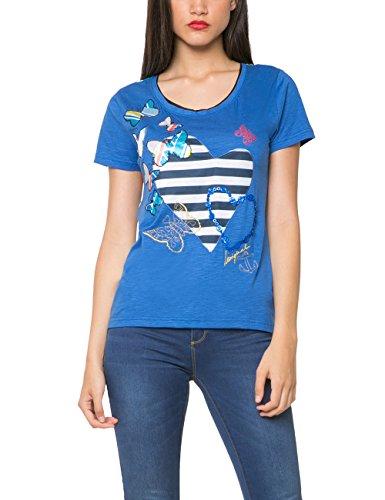 Desigual, LOVE - Camiseta para mujer Azul