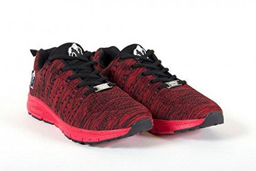 Gorillas Brooklyn Gebreide Sneakers - Rood / Zwart