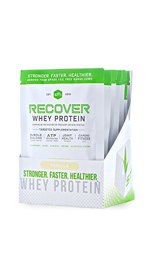 Recover Whey Protein Powder (Vanilla) by SFH | Great Tasting 100% Grass Fed Whey for Post Workout | All Natural | No Soy, No Gluten, No RBST, No Artificial Flavors (Single Serve)