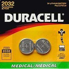 Duracell Medical Battery Cr2032 3 V Model No. 2032 Pack Of 2