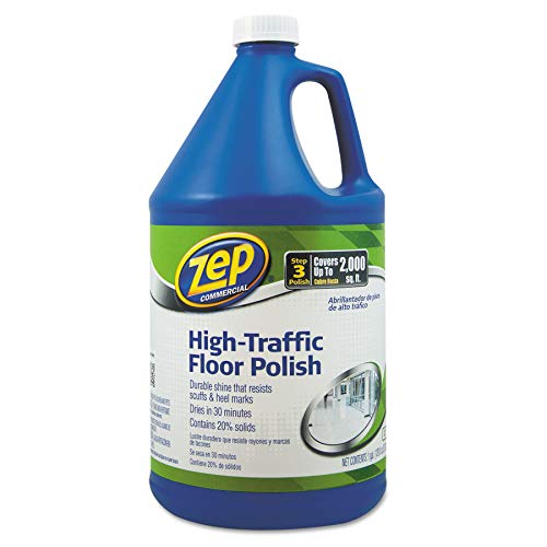 Zep Commercial 1044999 High Traffic Floor Polish, 1 gal Bottle (Slip Wax Floor)
