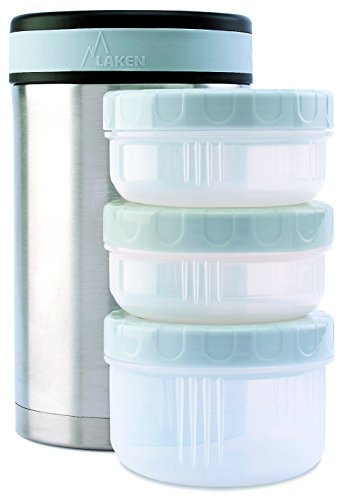 Laken Thermo Insulated Stainless Steel Vacuum Food Jar Container w/Cover and ..., 50 Ounce Plain, 50 Ounce