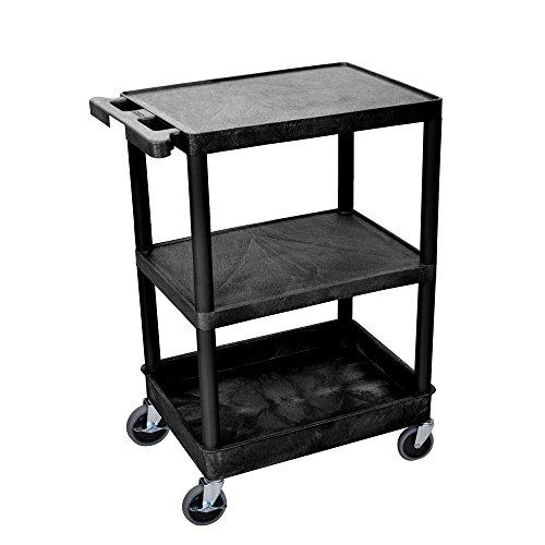 Flat Top/Middle & Tub Bottom Shelf Multipurpose utility Cart - Utility Cart Tub Shelf Bottom