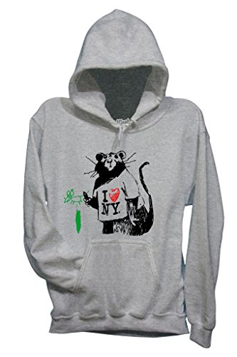 Sweatshirt Banksy I Love Ny Mouse - Berühmt By Mush Dress Your Style