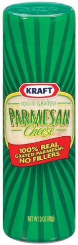 Kraft, Grated Parmesan Cheese, 3oz Canister (Pack of 6)