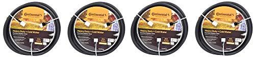 Continental ContiTech Black Rubber Heavy Duty Garden Hose, 5/8'' ID x 50' Length (4-(Pack))