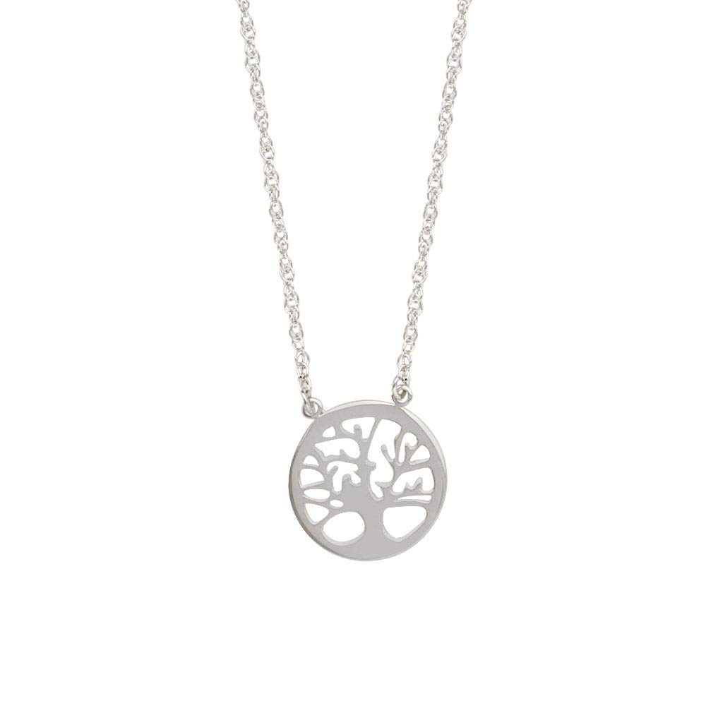 Sterling Silver East 2 West Family Tree Necklace Adjustable