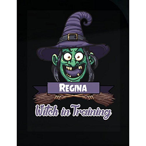 Halloween Costume T Shirt For Kids Regina Witch In Training Funny Halloween Gift - Sticker ()