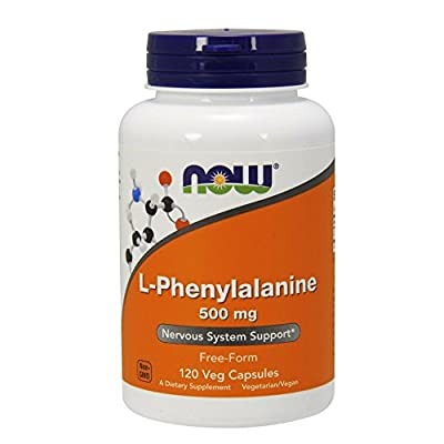 NOW L-Phenylalanine 500 mg,120 Veg Capsules