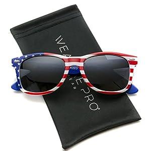 WearMe Pro - Polarized American Flag Retro Wayfarer Sunglasses